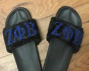 Customized Zeta Phi Beta Slippers