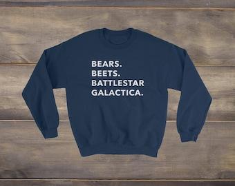 Dwight Schrute, Bears Beets Battlestar Galactica Sweatshirt, Michael Scott, Bears Beets Battlestar Galactica Shirt, Dwight You Ignorant Slut