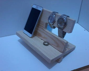 Docking Station, Wooden Nightstand