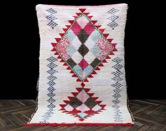 Vintage Azilal Berber Rug -Area Rug 4x8 Moroccan rug, vintage rug,Berber Carpet,Handmade Rug,Oriental Carpet, Berber Rug