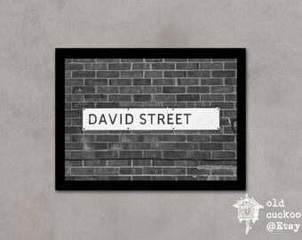 David Street - London street sign print