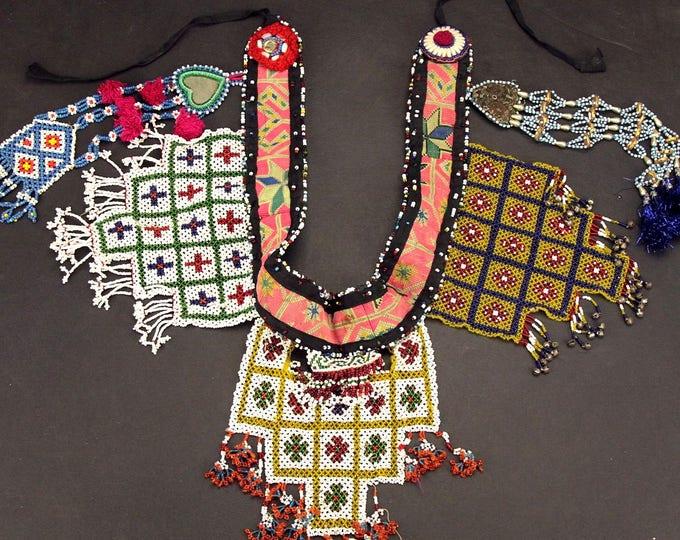 Afghan Tribal BELT Bellydance Dangles Turkoman 868g10
