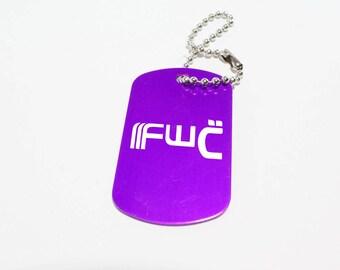 Destiny Future War Cult FWC Faction Icon Logo Dog Tag Key Chain Charm - Laser Engraved Custom Made