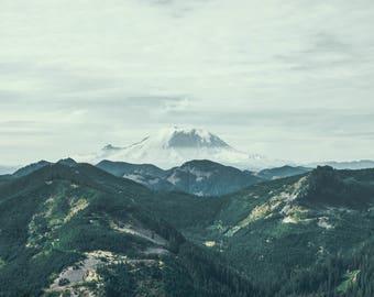 The Peak - Photo, Art, Print, Home Decor, Landscape Photography, Nature, Travel, Wall Art, Mountains, Mount Rainier, Washington, PNW, gift