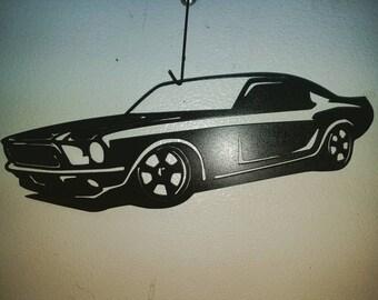 65 Ford Mustang, metal wall art, plasma art wall art, fast cars, ford, custom trucks, black ford mustang, custom art, custom wall designs