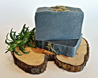 Rosemary & Cedarwood Charcoal Soap / All Natural Soap / Activated Charcoal / Vegan Soap / Handmade Soap / Gift for Mom / Mothers Day gift