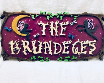 Fairies In The Forest Custom Name Sign