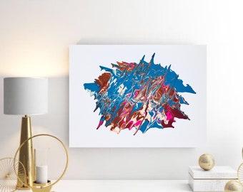 "Abstract artwork - acrylic paint on 16x20"" canvas"