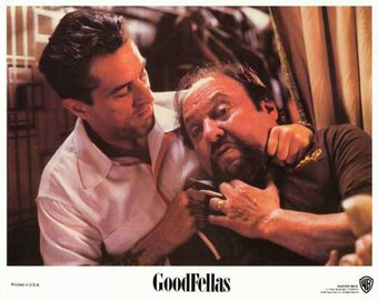 GoodFellas (1990) movie poster 11 x 14 Robert De Niro Jimmy collecting a debt from Morrie Martin Scorsese Joe Pesci Ray Liotta Morrie's Wigs