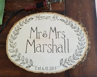 Large Circular Family Sign (with embellishments)