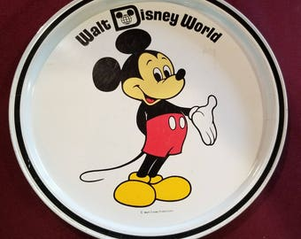 Vintage Mickey Mouse Tin Serving Tray