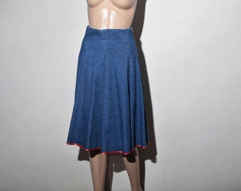 Vintage 70 jeans skirt s T38