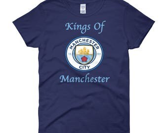 Kings Of Manchester, Manchester City Soccer Women's short sleeve t-shirt