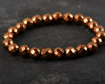 Handmade Natural Stone Brown Natural Stone Bracelet