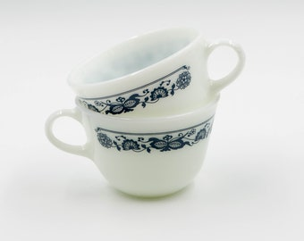 Pyrex Old Town Blue Cups (2)