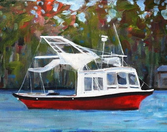 Acrylic on Canvas: Fishing Trawler