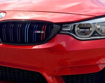 Bmw M Stripes Etsy - Bmw grille stripe decals