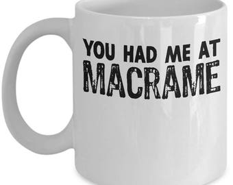 Funny Macrame Mug For Craft Enthusiast Fan Crafter Hobby Coffee Mug / Tea Cup - High Quality Ceramic, Gift Idea for Mom,
