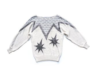 Jem and the holigrams silver and cream sweater