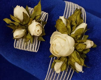 Flower from fabric to hairstyle