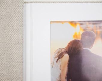 4x6 Linen Trifold, Slip-In Mats, Triple Folio, Triple Frame, Portrait Folios, Photo Holder, Desk Photo Frame, Vertical Linen Photo Holder