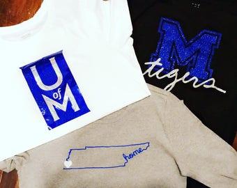 University of Memphis shirts