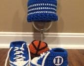 Duke Basketball Baby Booties/Hat Set