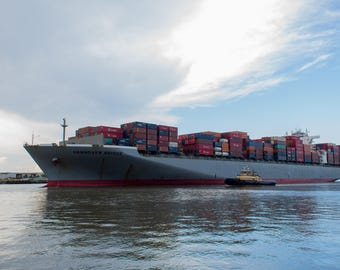 Cargo Ship - Savannah, Georgia - Vehicles - Print