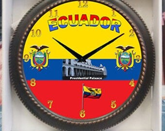 Ecuador Clock  Decor wall Clock