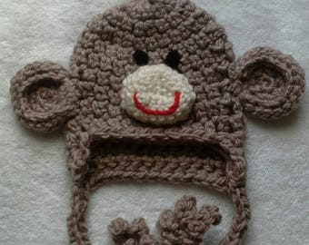 Warm and soft hat for your little monkey.