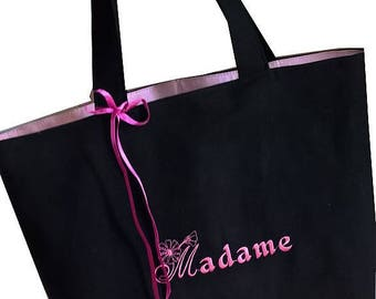 First name choice of personalized embroidered tote bag