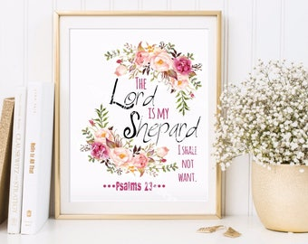 Digital Print The lord is My Shepard