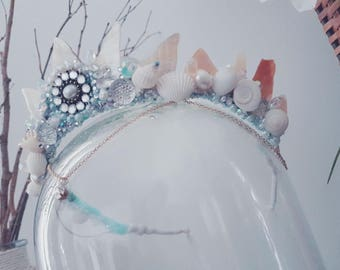 Mermaid Crown.made with real pearl shards