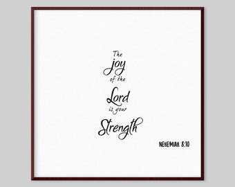 Nehemiah 8:10 Scripture Canvas Wall Art - The joy of the Lord is your strength