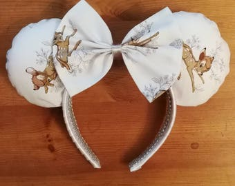Luxury Bambi cream minnie ears.