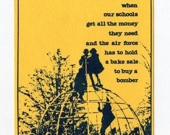 Vintage Pro Schools Postcard | Women's League, Human Rights, Children, Schools, Political, Protest, Post Card | Paper Ephemera |