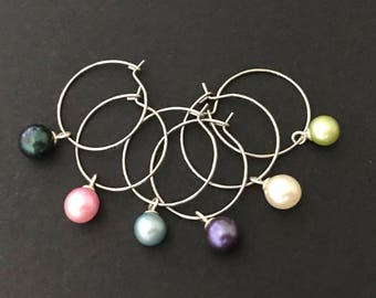 Pearl Wine Glass Charms