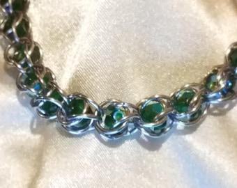 Captured Bead Bracelet