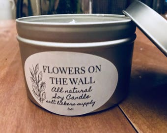 Flowers On The Wall 8oz Candle
