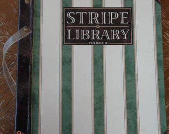 Wallpaper Sample Book Stripe Library Volume II Waverly Wallcovering