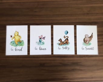 Set of 4 - The Hundred Acre Wood Print Set (5x7)