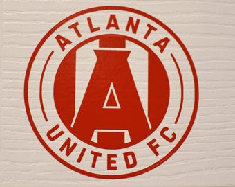 Atlanta United FC Decal - Multiple Sizes- Multiple Colors-  MATTE Colors Available