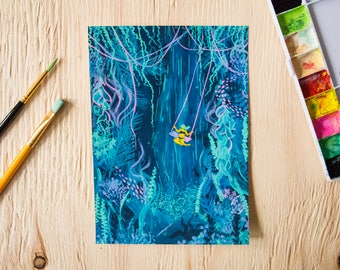 Underwater Forest Art Print 5x7""