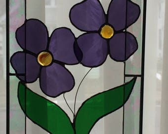 Purple 3D Stained Glass Flower