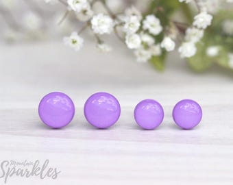 Light Purple stud earrings, Small Gift Violet, Simple Stud Earrings Lilac, Lavender Earrings Minimalist, Gift for friend, Dainty Earrings