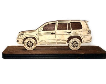 Wood Car Figurine for Toyota Land Cruiser 200 2007-2015