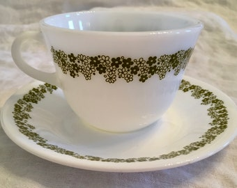 Set of 6 Vintage Corelle Spring Blossom Cups and Saucers