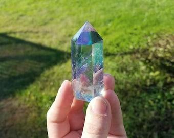 Angel Aura Titanium Bismuth Quartz