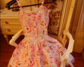 Super Kawaii Sweet Lolita Dress with Matching Hoodie Cake Print