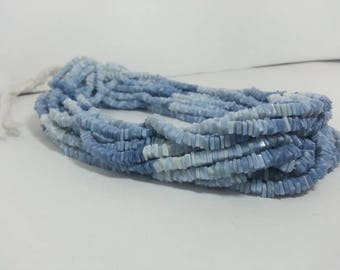Blue Opal Shaded Plain Square Beads